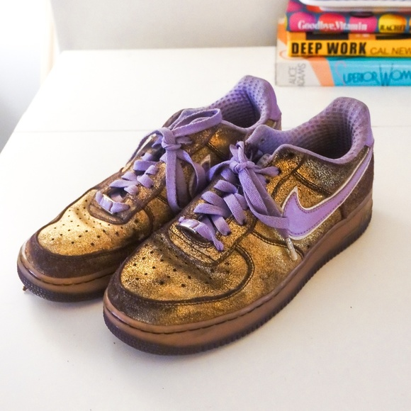 purple gold nike